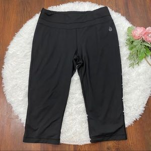 Be Inspired Black Cropped Leggings Size L